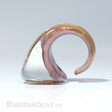 """Кольцо """"Tidal"""" pink"""