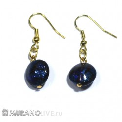 "Серьги ""Romantic night"" blue glowing"