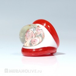 "Кольцо ""Sea treasure"" red"