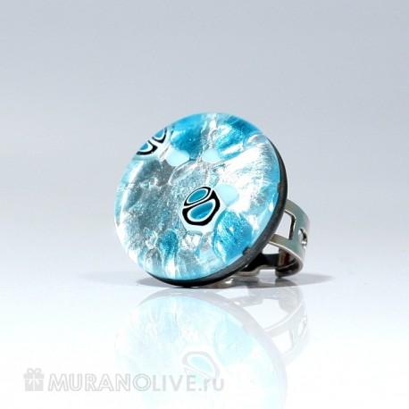 """Кольцо """"The luxury of nature"""" blue"""