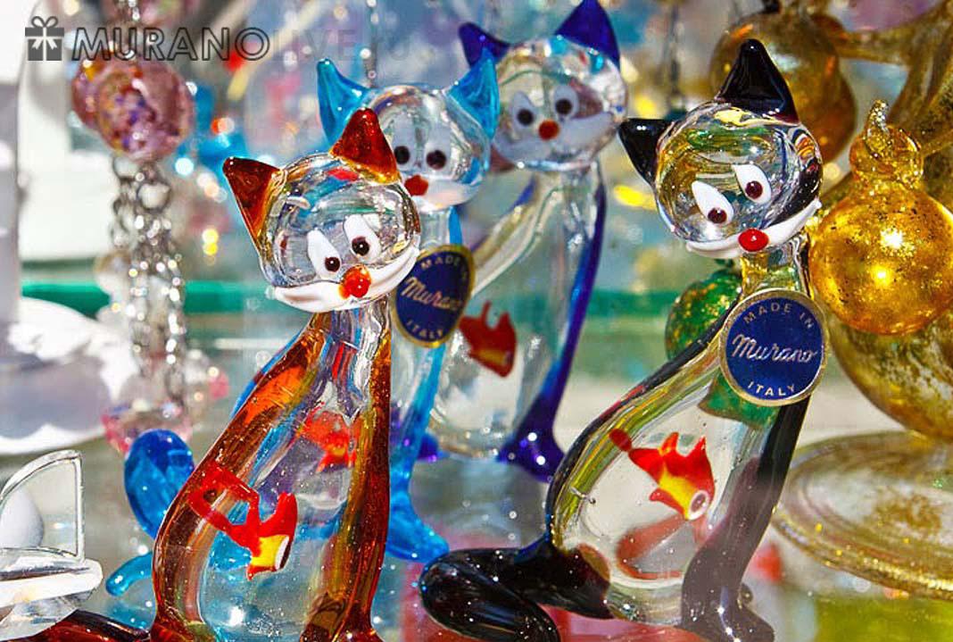 стеклянные фигурки из Муранского стекла