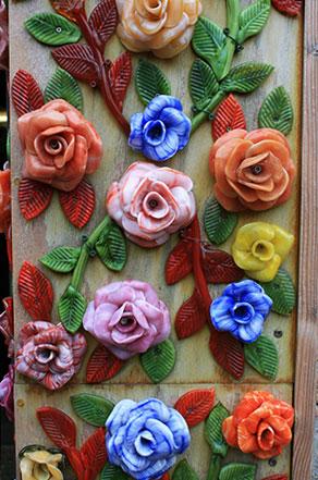 Цветы из муранского стекла